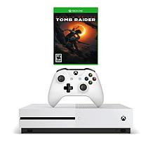 """Xbox One S 1TB 4K Starter Console with """"Shadow of the Tomb"""" Game"""
