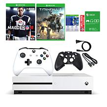 Xbox One S 4K Console w/Madden NFL '18 & Titanfall 2 & Silicone Sleeve