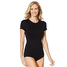 Yummie Short-Sleeve Seamless Shaping Body Suit