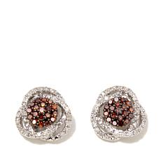 0.33ctw Colored and White Diamond Stud Earrings