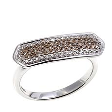 0.355ctw Colored Diamond Sterling Silver Bar Band Ring