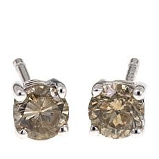 0.5ctw Colored Diamond Sterling Silver Stud Earrings