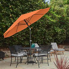 10' Auto-Tilt Patio Umbrella with Easy Crank - Terracotta