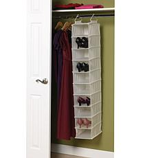 10-Shelf Canvas Organizer with Plastic Shelves