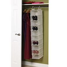 10-Shelf Canvas Organizer with Plastic Shelves
