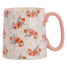 10 Strawberry Street Bella Cozy Cottage Rose Mug 4-Pack