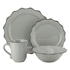 10 Strawberry Street Oxford 24-Piece Dinnerware Set - Cream