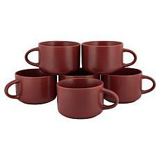 10 Strawberry Street Set of 6 Wazee Matte Oversized Mugs