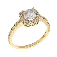10K Gold 1.01ctw Moissanite Cushion-Cut Ring