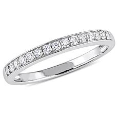 10K White Gold .015ct Diamond Wedding Band Ring