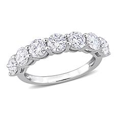 10K White Gold 2.45ctw Created Moissanite Semi-Eternity Band Ring