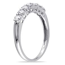 10K White Gold .49ctw Diamond 7-Stone Anniversary Ring