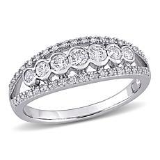 10K White Gold .50ctw Diamond Semi-Eternity Ring