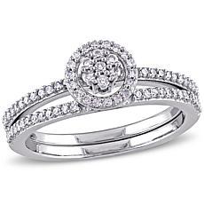 10K White Gold Diamond Bridal Set Ring