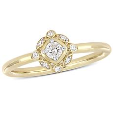 10K Yellow Gold 0.15ctw  Diamond Cocktail Ring