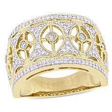 10K Yellow Gold 0.50ct Diamond Vintage-Style Ring