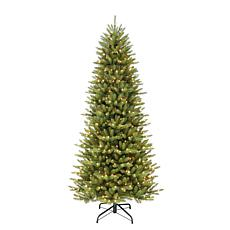 12' Slim Franklin Fir Artificial Christmas Tree - 1200 Clear Lights