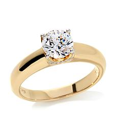 1.3ctw Absolute™ Round Solitaire Pavé Prong-Set Ring