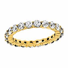 14K Gold 2.20ctw Moissanite Round Eternity Band Ring