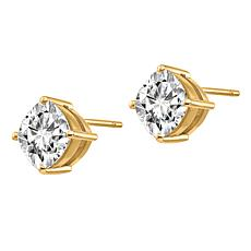 14K Gold 2.2ctw Moissanite Cushion-Cut Stud Earrings
