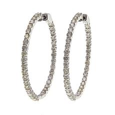 14K Gold 4.96ctw Diamond Hoop Earrings