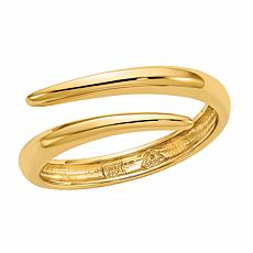 14K Gold Polished Bypass Ring