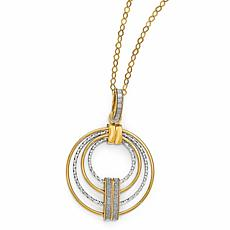 14K Gold Two-Tone Glimmer-Infused Drop Necklace