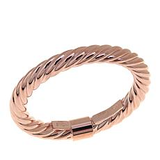 14K Rose Gold Twisted Tube Ring
