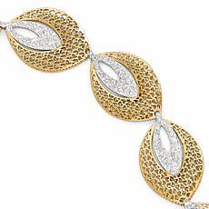 14K Two-Tone Fancy Chain Bracelet