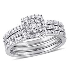 14K White Gold 0.50ctw Diamond Bridal Ring Set