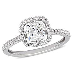14K White Gold 1.21ctw Cushion-Cut Diamond Engagement Ring