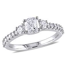 14K White Gold 1.22ctw 3-Stone Diamond Engagement Ring