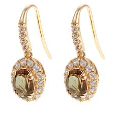 14K Yellow Gold 2.58ctw Andalusite & Zircon Earrings