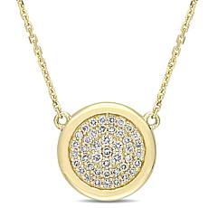14K Yellow Gold .25ctw Diamond Circle Necklace