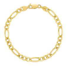 "14K Yellow Gold 3.8mm Diamond-Cut Figaro Chain Bracelet - 8"""