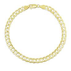 "14K Yellow Gold 4.7mm Diamond-Cut Comfort Curb Chain Bracelet - 8-1/2"""
