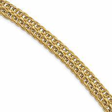 14K Yellow Gold Polished Fancy Link Bracelet