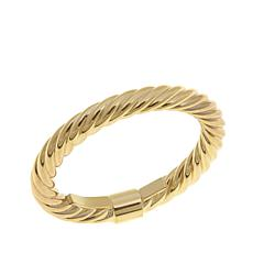 14K Yellow Gold Twisted Tube Ring