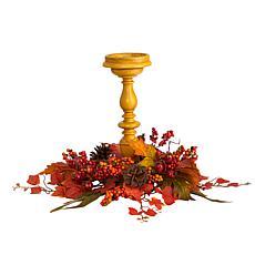 """15"""" Harvest Fall Artificial Candelabrum Arrangement"""