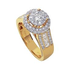 1.5ctw Diamond 14K Gold Round Ring
