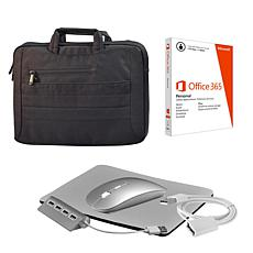 """17"""" 2-in-1 Business Carrier w/Microsoft Office Personal & Accessories"""