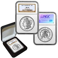 1887 MS64 NGC P-Mint Morgan Silver Dollar