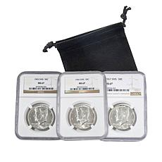 1965-7 MS67 NGC John F. Kennedy Special Mint Set Half Dollars