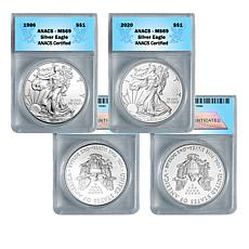 1986 and 2020 MS69 ANACS Silver Eagle 2-Coin Set - Auto-Ship®