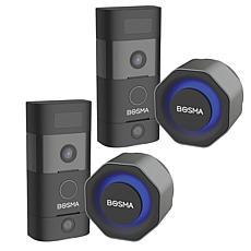 2-Pack Bosma Sentry Plus Doorbell and Aegis Smart Lock Bundle