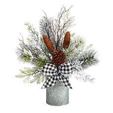 """20"""" Holiday Winter Greenery with Pinecones"""