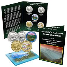 2014 Great Smoky Mountains Park 5pc Quarter Set