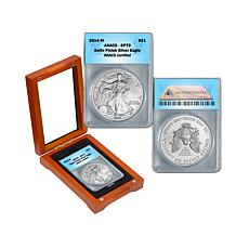 2014 SP70 ANACS Satin-Finish Silver Eagle Dollar Coin