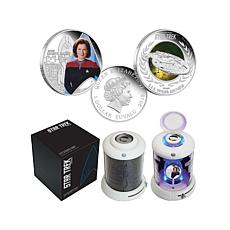 2015 Capt. Janeway & USS Voyager Proof Silver Coins