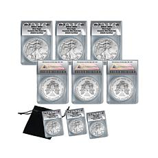 2016 MS69 PSW Silver Eagle Complete Mint Set